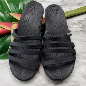 Crocks Black Sandals size 8